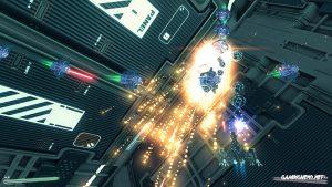 Das Raumschiff Phase Shifter im Kampf gegen die Außerirdischen Raumschiffe.